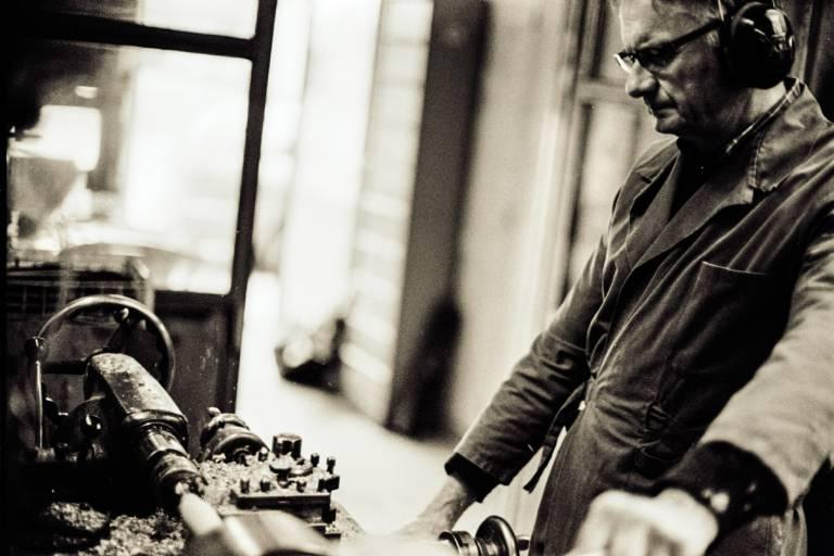Gilbert Hervieux tournage de carrelet de buis